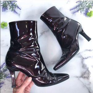 Stuart Weitzman Patent Leather Ankle Boots Size 7